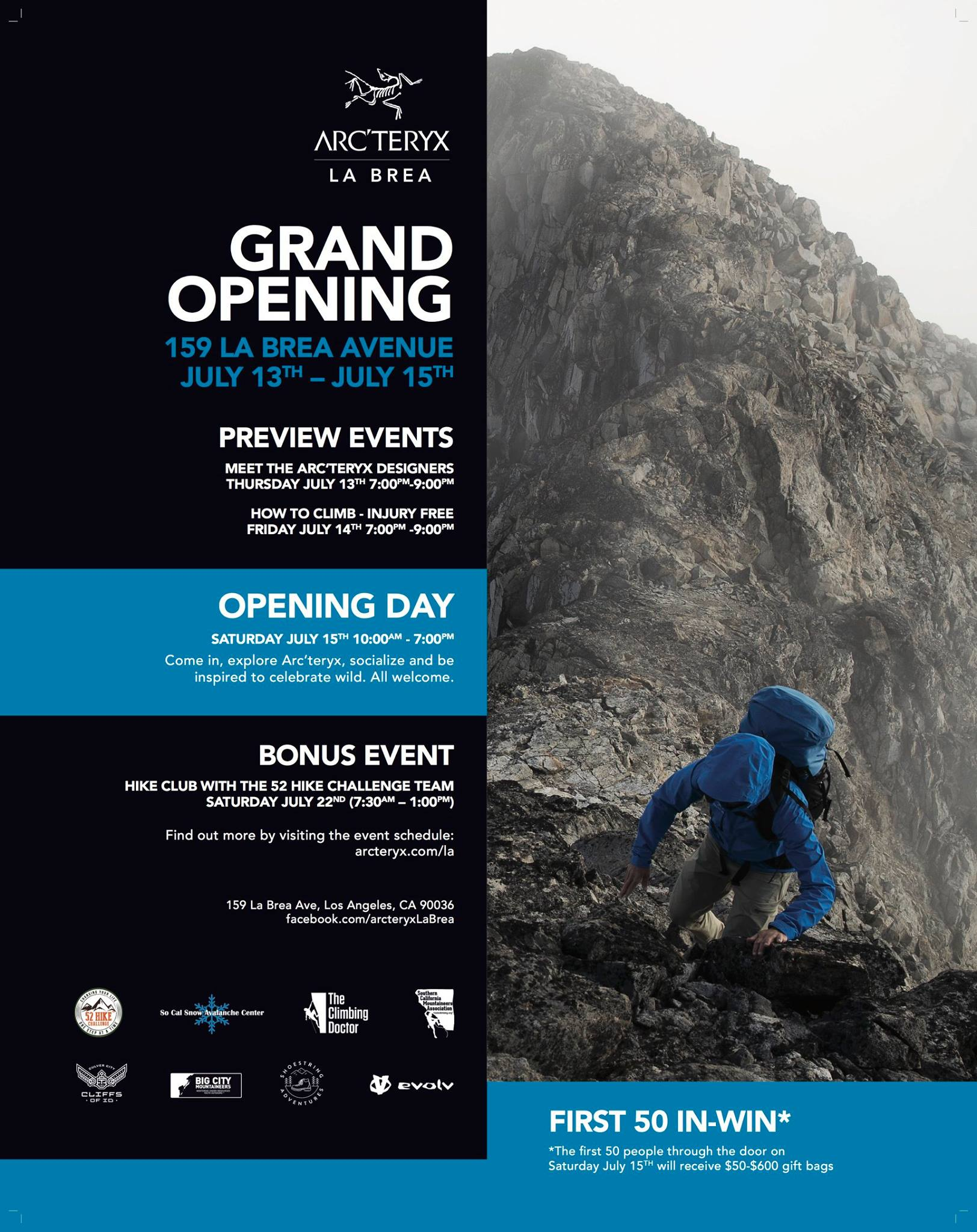 Info session with Latino Outdoors @ Arc'teryx La Brea Grand Opening