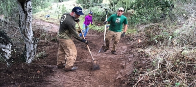 Fort Ord National Monument, CA: Participants Donate 96 Volunteer Hours of Trail Maintence